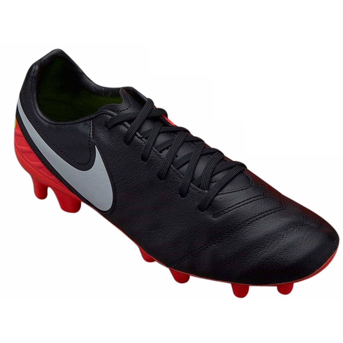 Chuteira Nike Campo Tiempo Mystic V FG 819236-018 - Preto Salmão ... 3eb286280d374