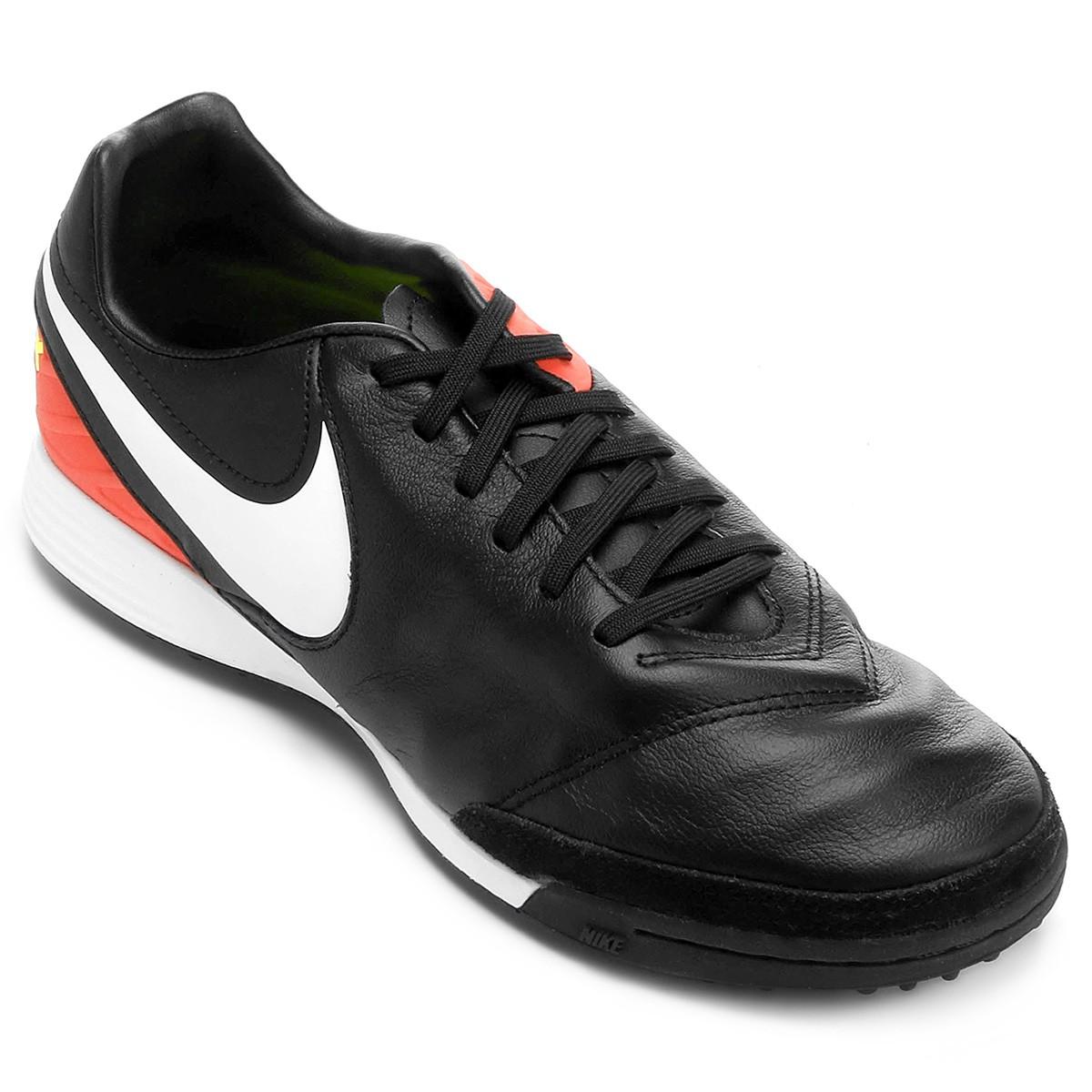 a9fc67a295 Chuteira F7 Nike Tiempo Mystic V TF 819224-018 - Preto Salmão ...