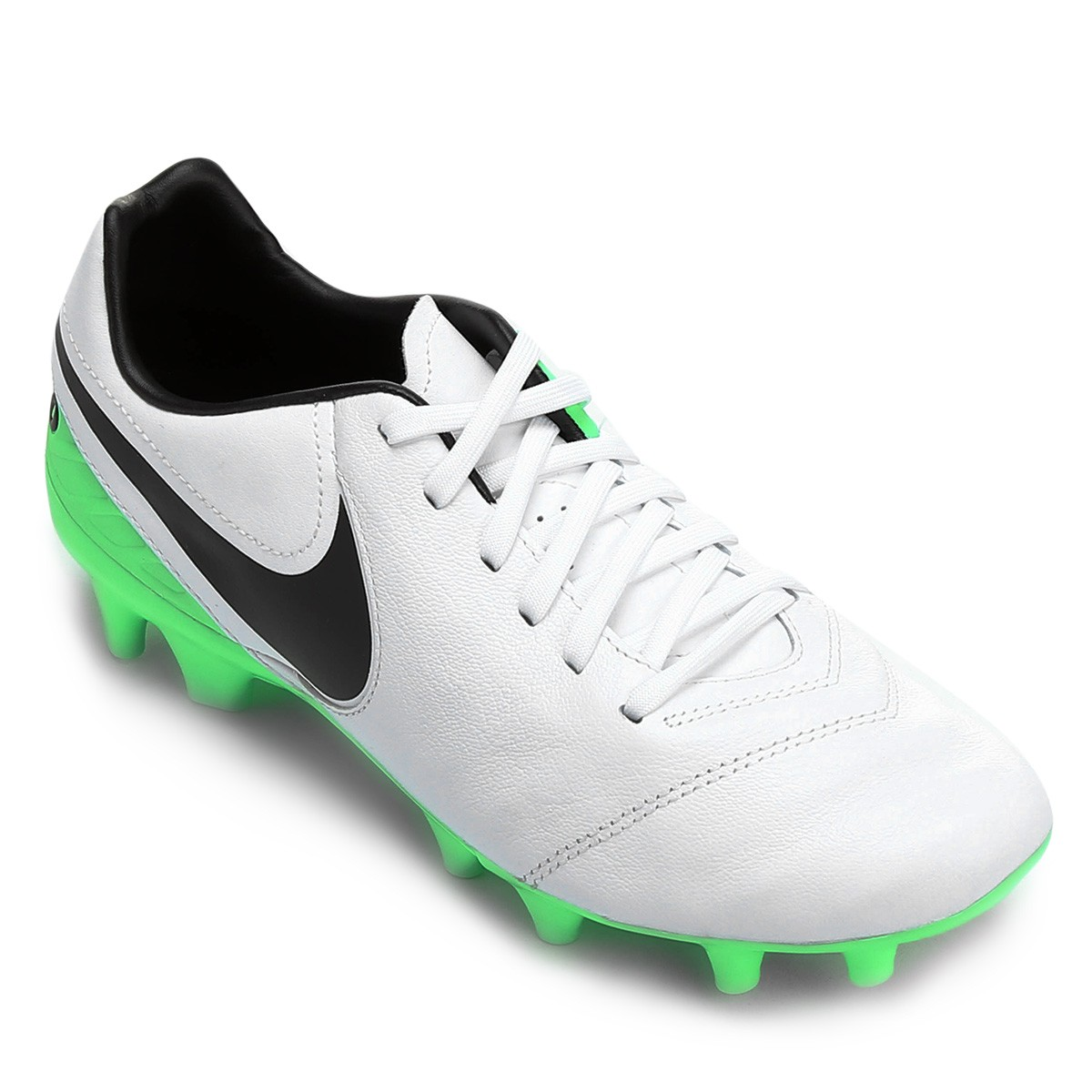 0bb7ea18ae Chuteira Nike Campo Tiempo Mystic V FG 819236-103 - Branco Verde ...