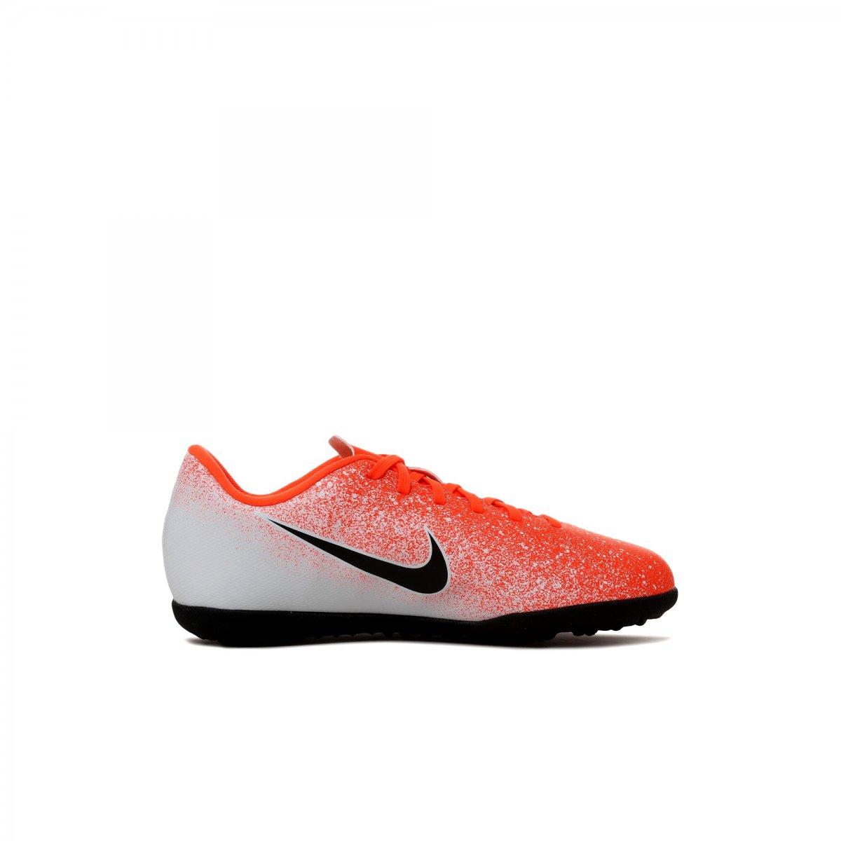 Leer total Redada  Chuteira Society Nike MercurialX Vapor XII Club Jr Infantil AH7355-801 -  Laranja/Branco - Botas Online Femininas, Masculinas e Infantis    Mundodasbotas.com.br