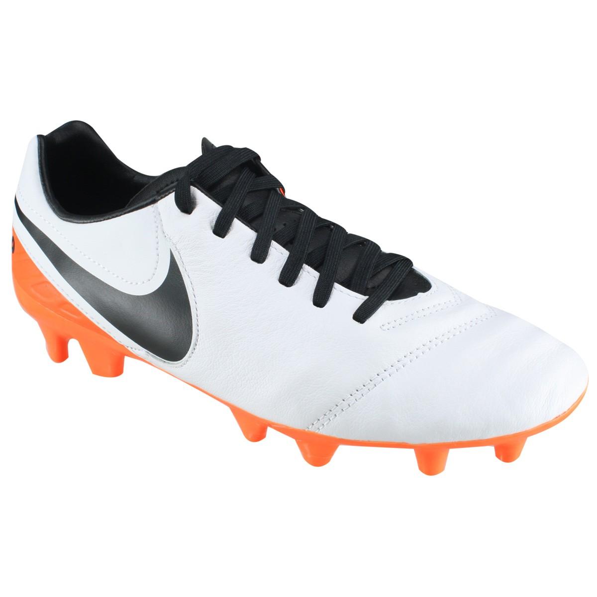 d84b8823b6 Chuteira Nike Campo Tiempo Mystic V FG 819236-108 - Branco Laranja ...