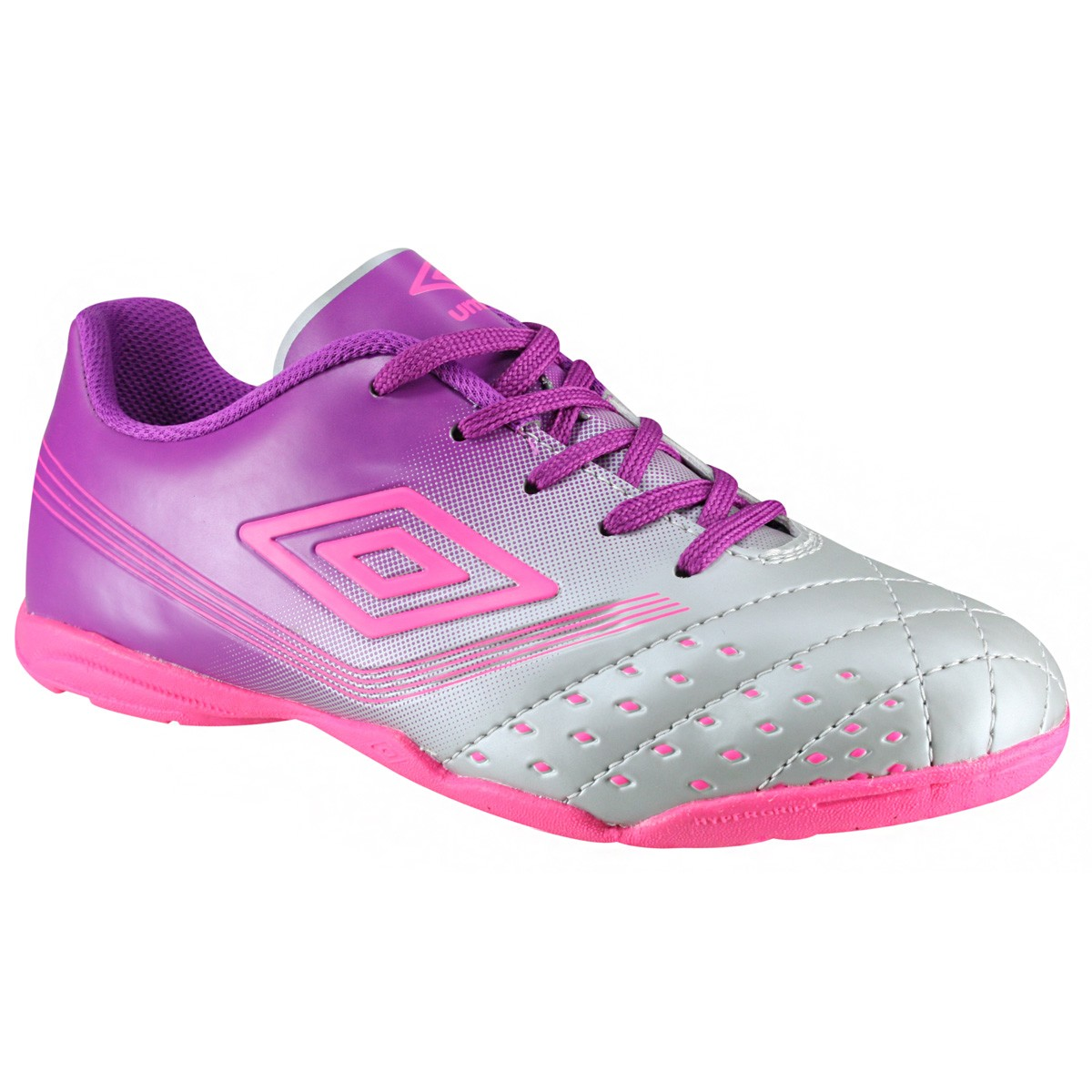 Indoor Fifty Feminino Umbro OF72063-000 - Cinza Roxo Pink - Botas ... f85c021e54fa7