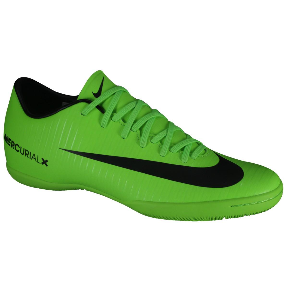 46ee1f845d Indoor Nike Mercurial Victory VI IC 831966-303 - Verde Preto - Botas ...