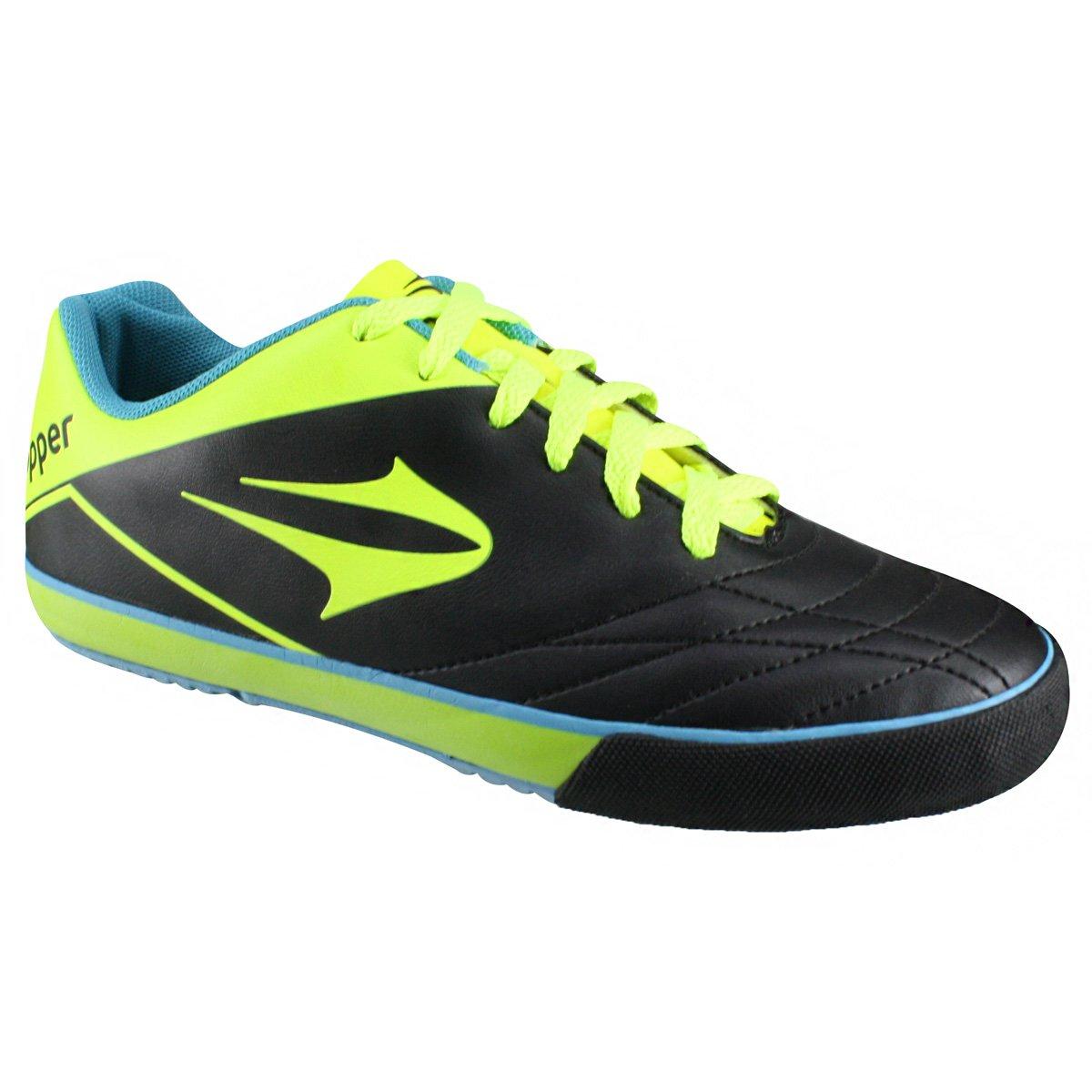 Indoor Topper Frontier VII 4132587 3720 - Preto Verde Neon - Botas ... 3c3a2dec4613a