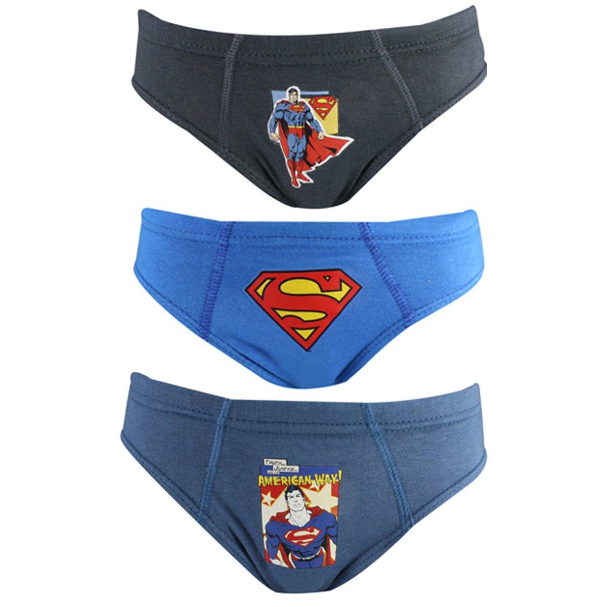b9fcc8fb9 Kit C 3 Cueca Lupo Infantil Slip Superman 130 089 0921 - Azul Cinza ...
