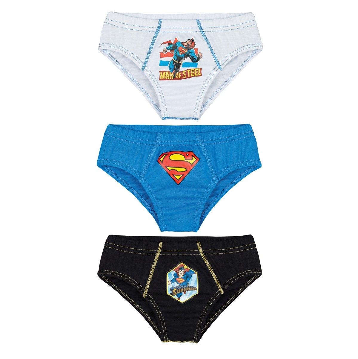 4ae0cd487 Kit C 3 Cuecas Lupo Superman Infantil 130-089-907 - Branco Azul ...