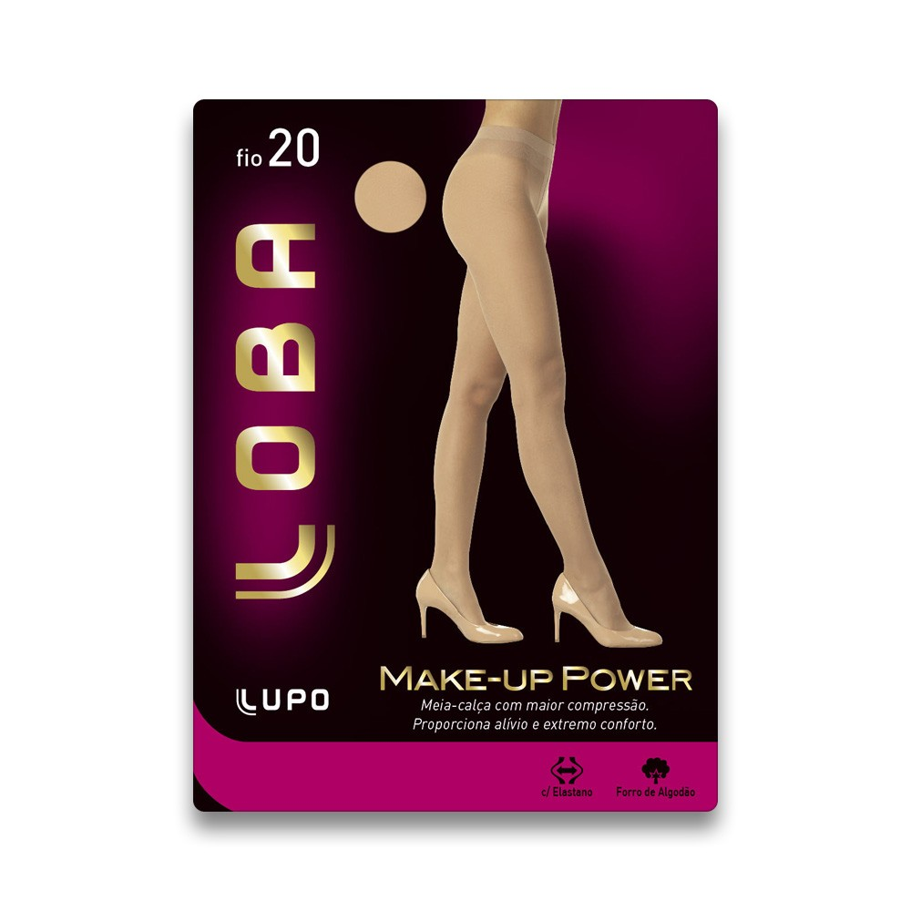 9fac1b048 Meia Calça Lupo Power Make-Up Comprenssão Fio 20 5766 01 6001 - Nude ...