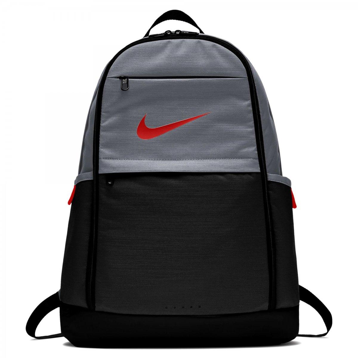eb28d864d Mochila Nike Brasilia (Extra Grande) BA5892-065 - Cinza/Vermelho ...