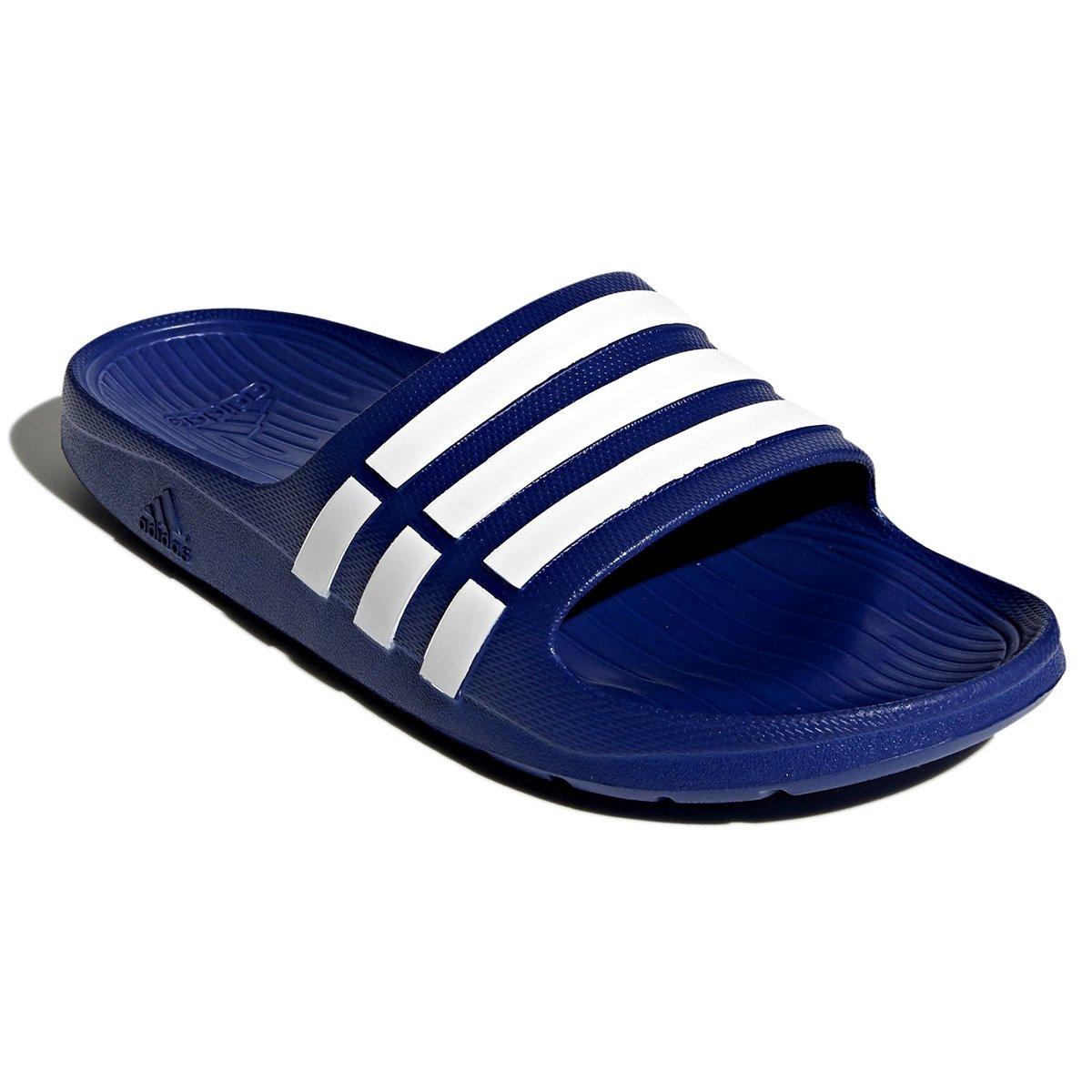 dc3296048e0 Sandália Adidas Duramo Slide G14309 - Azul Branco - Botas Online ...