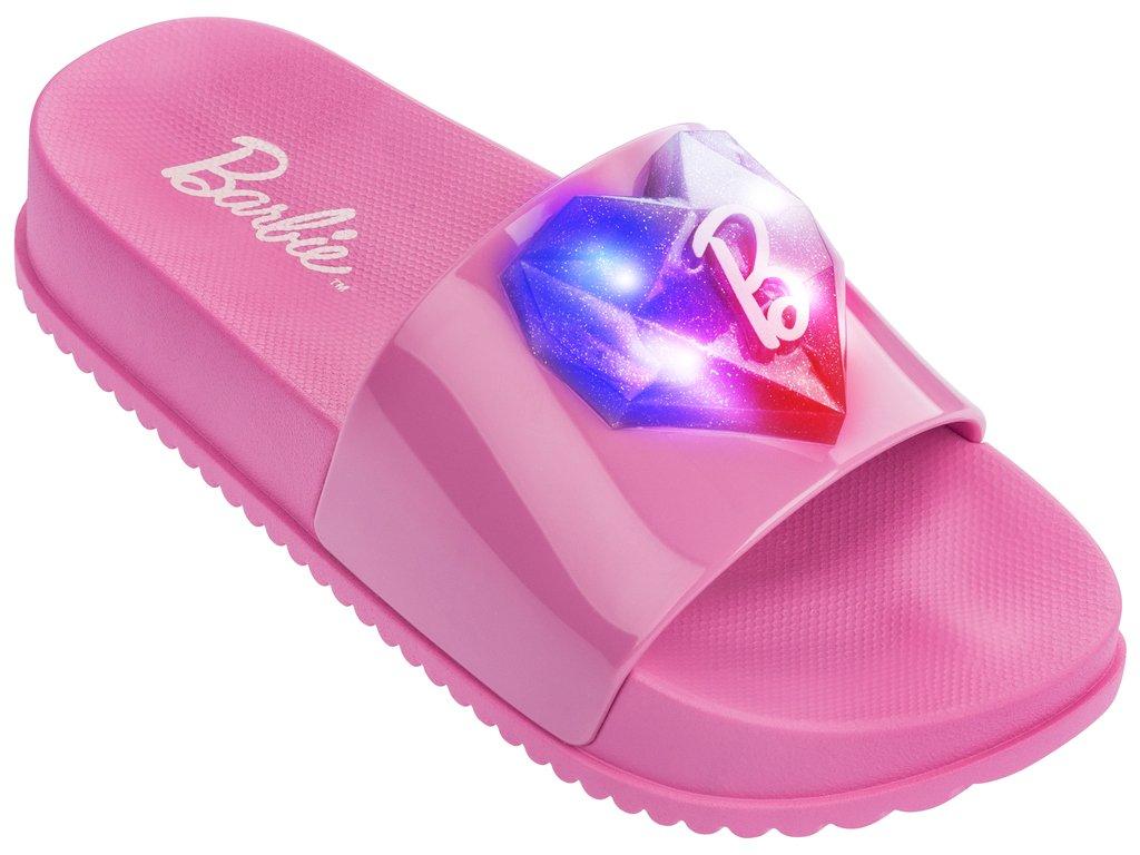 a35148977 Passe o mouse para ver detalhes. Amplie a imagem. Sandália Infantil  Grendene Barbie Slide Love ...
