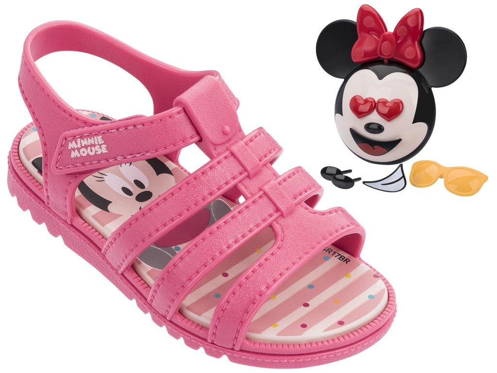 094a1ab05 Passe o mouse para ver detalhes. Amplie a imagem. Sandália Infantil  Grendene Mickey ...