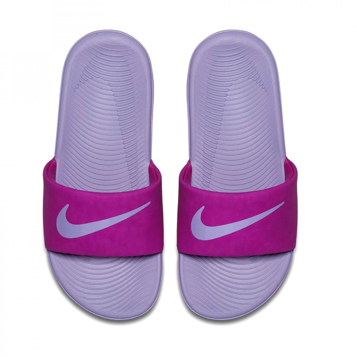 dc9b4f0e236 Sandália Infantil Nike Kawa Slide 819353-601 - Roxo - Botas Online ...