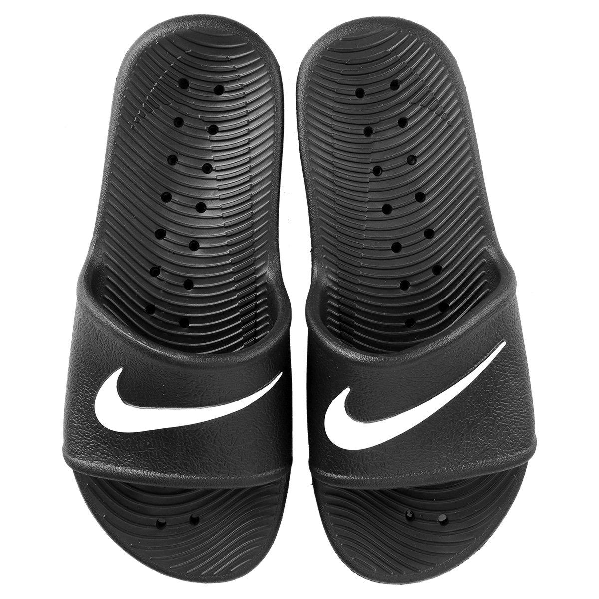 12eca922d1 Sandália Nike Kawa Shower 832655-001 - Preto Branco - Botas Online ...