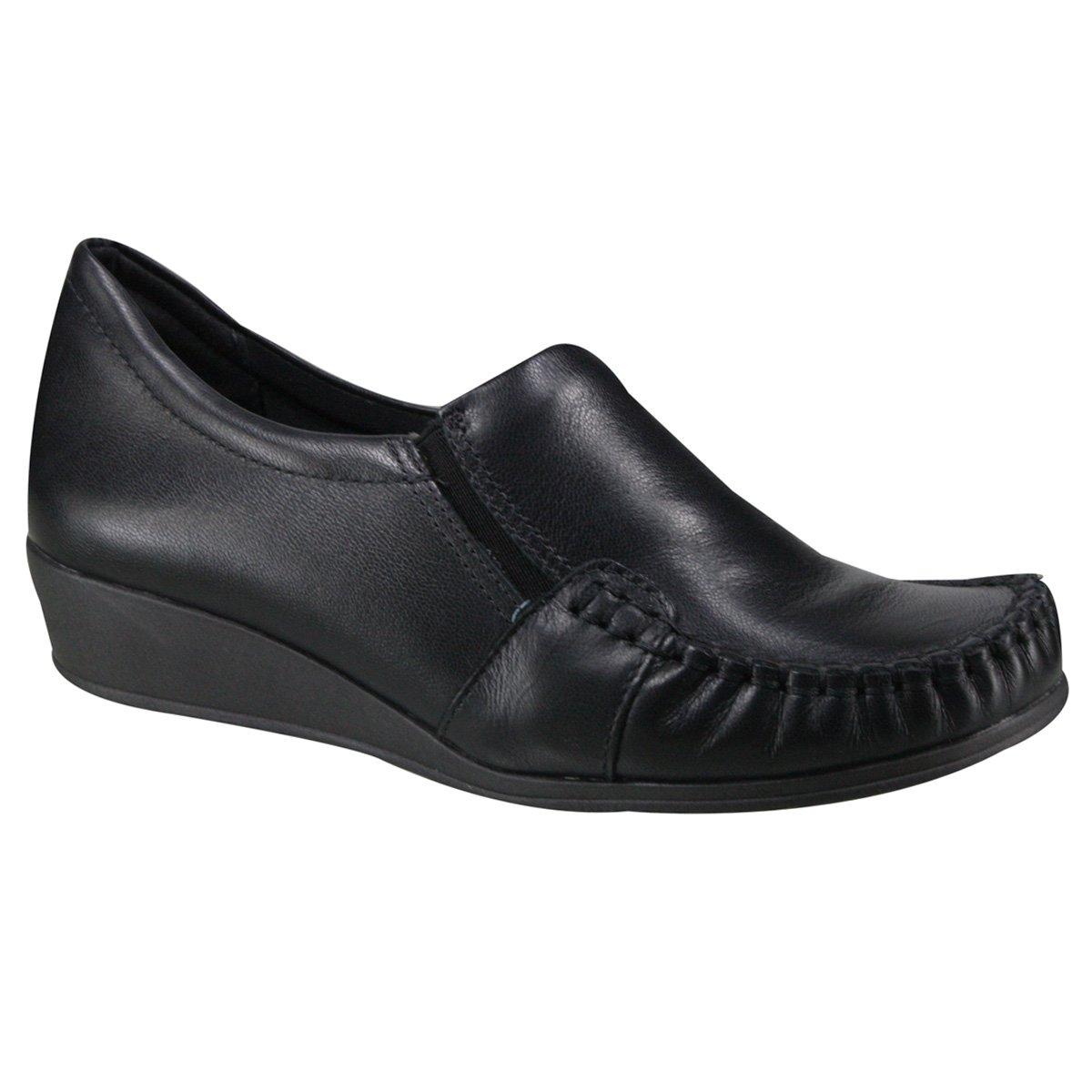 fab6dcb1a Sapato Comfortflex Anabela 17-93303 - Preto (Napa Vestuário) - Botas ...
