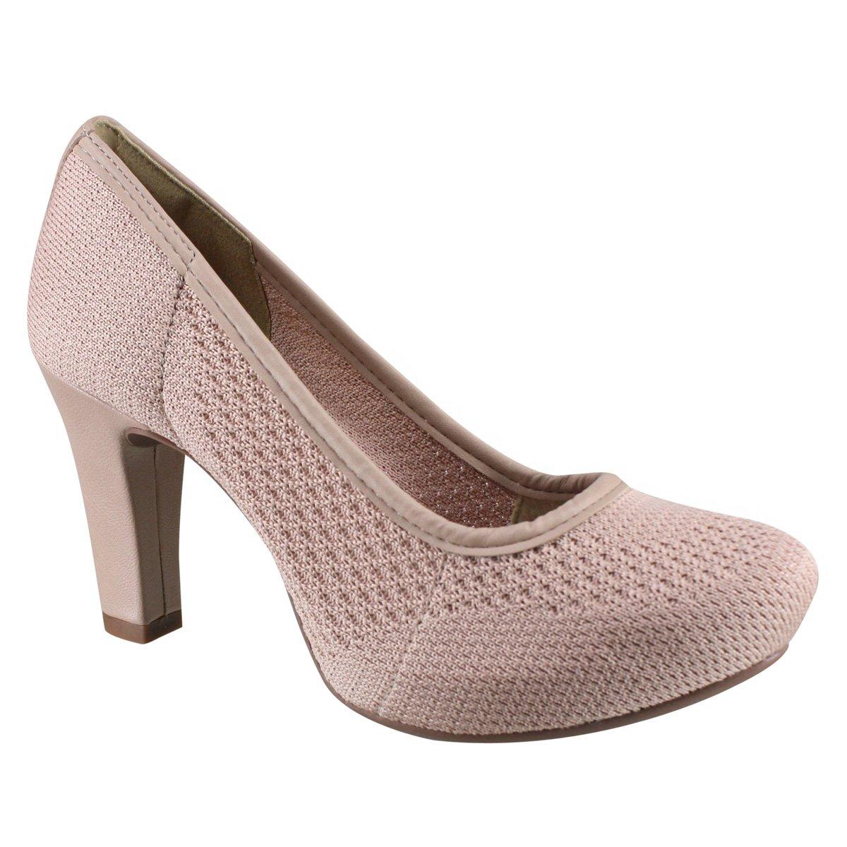 0cf023a28 Sapato Feminino Dakota Meia Pata B9861 0001 - Nude (Malha) - Botas ...