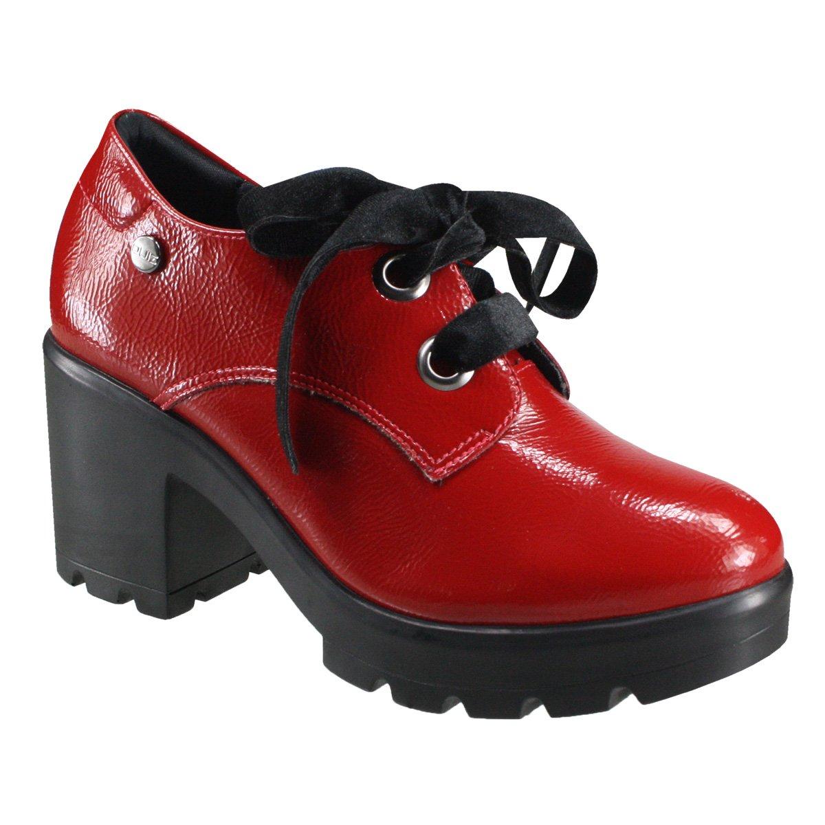 dcdd792d2 Sapato Feminino Oxford Quiz 69-69230 - Vermelho (Cab Verniz) - Botas ...
