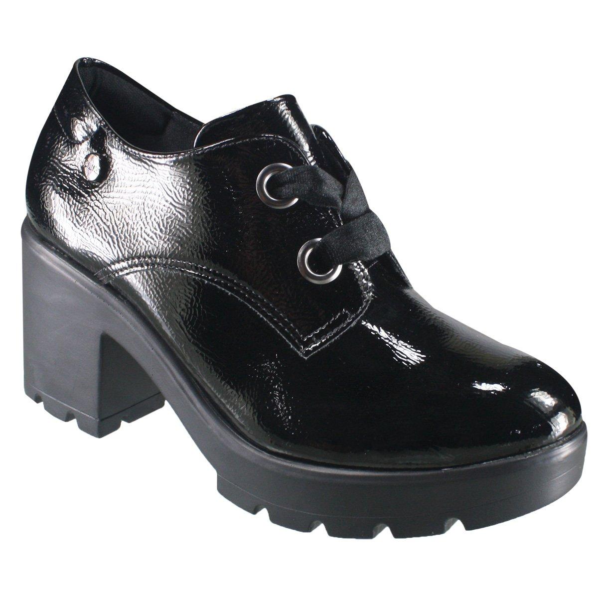 747ce8902 Sapato Feminino Oxford Quiz 69-69230 - Preto (Verniz Show) - Botas ...