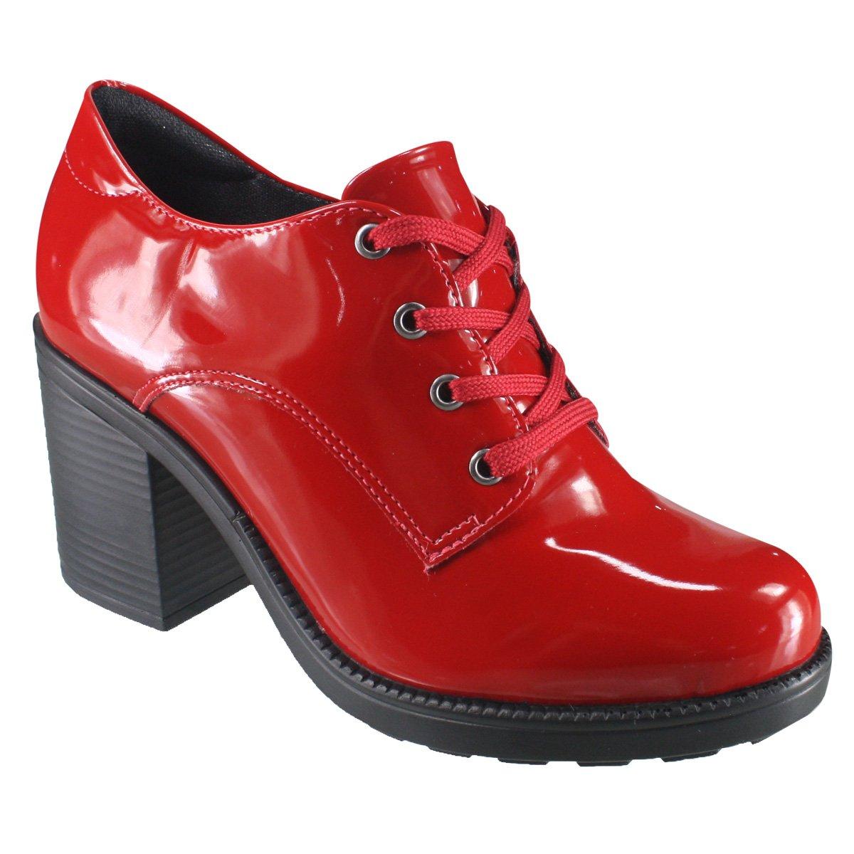 c91e5c8b9 Sapato Feminino Oxford Quiz 69-77102 - Vermelho (Verniz Soft ...