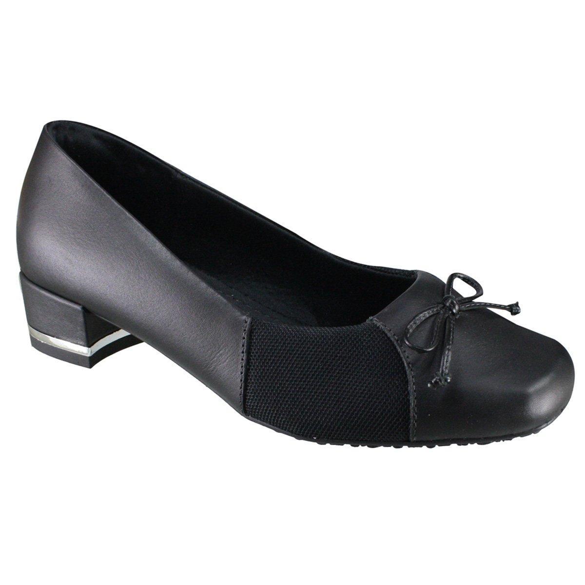 b4a82fe43b Sapato Feminino Usaflex Care Hidratante Z5809-1 - Preto (Soft Slim ...