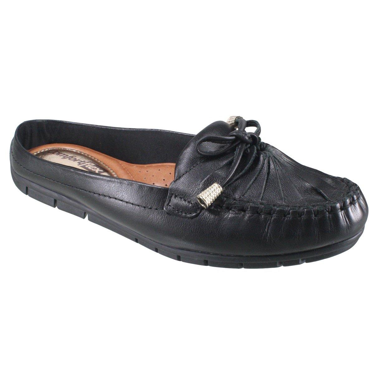 a616442f2 Sapato Mule Comfortflex 17-73402 000008 - Preto (Print Vest) - Botas ...