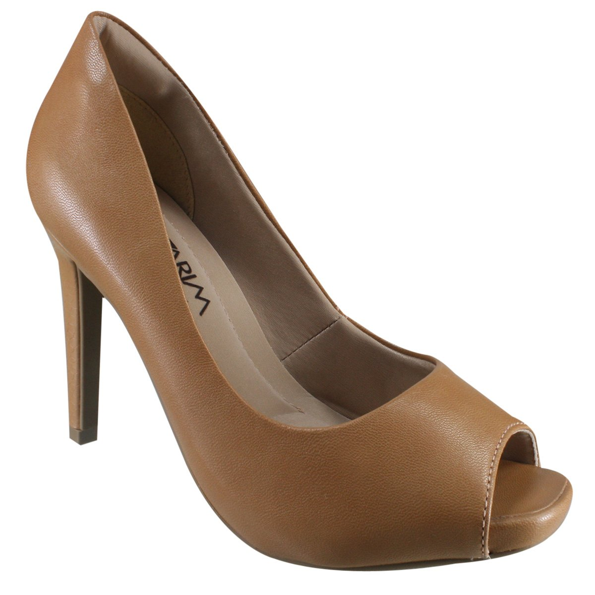 95ba9631ea Sapato Peep Toe Ramarim 17-47202 - Nut - Botas Online Femininas ...