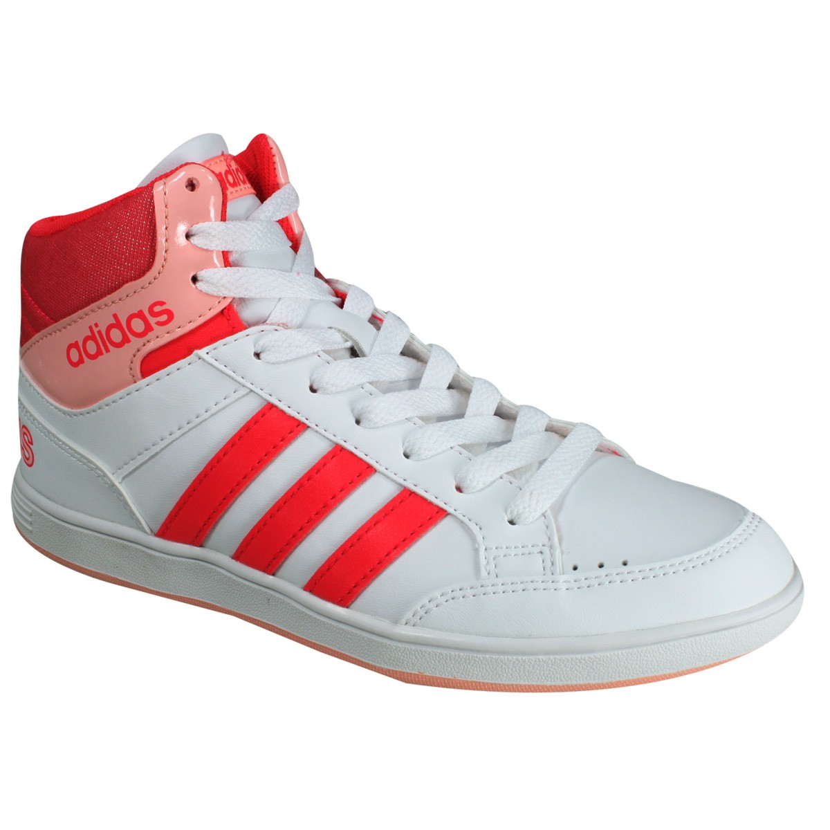 e381434d04d Tênis Adidas Hoops Mid K Botinha B74653 - Branco Rosa - Botas Online ...