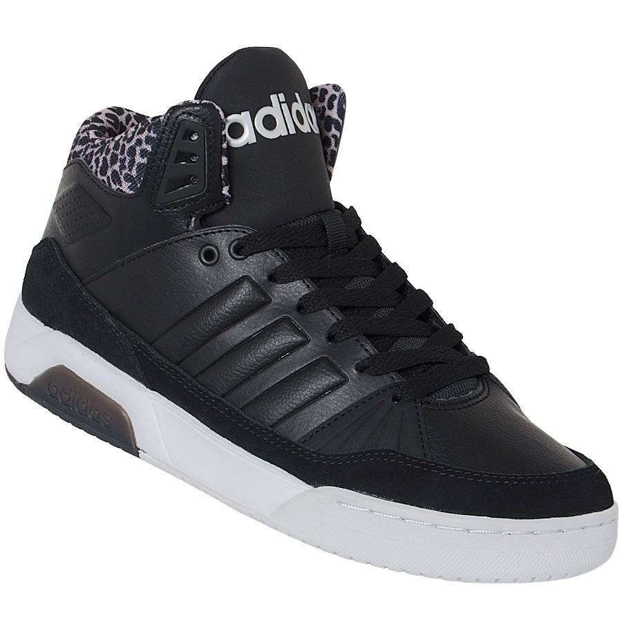 807d4c6f7a0 Tênis Adidas Play9tis W Botinha B74429 - Preto Branco - Botas Online ...