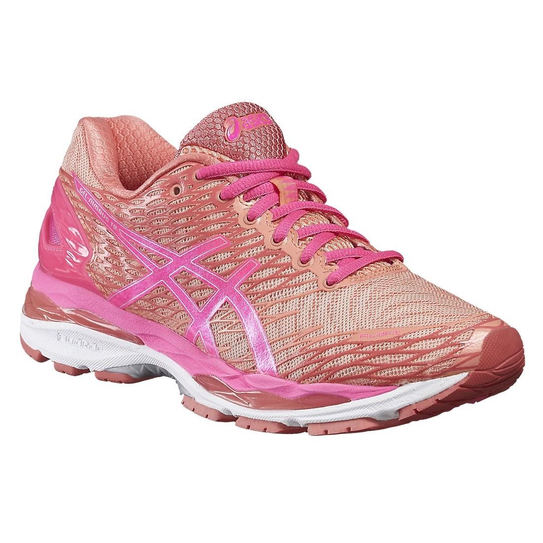 90b2ad8d02 Tênis Feminino Asics Gel Nimbus 18 T650N-7620 - Pessego Pink - Botas ...