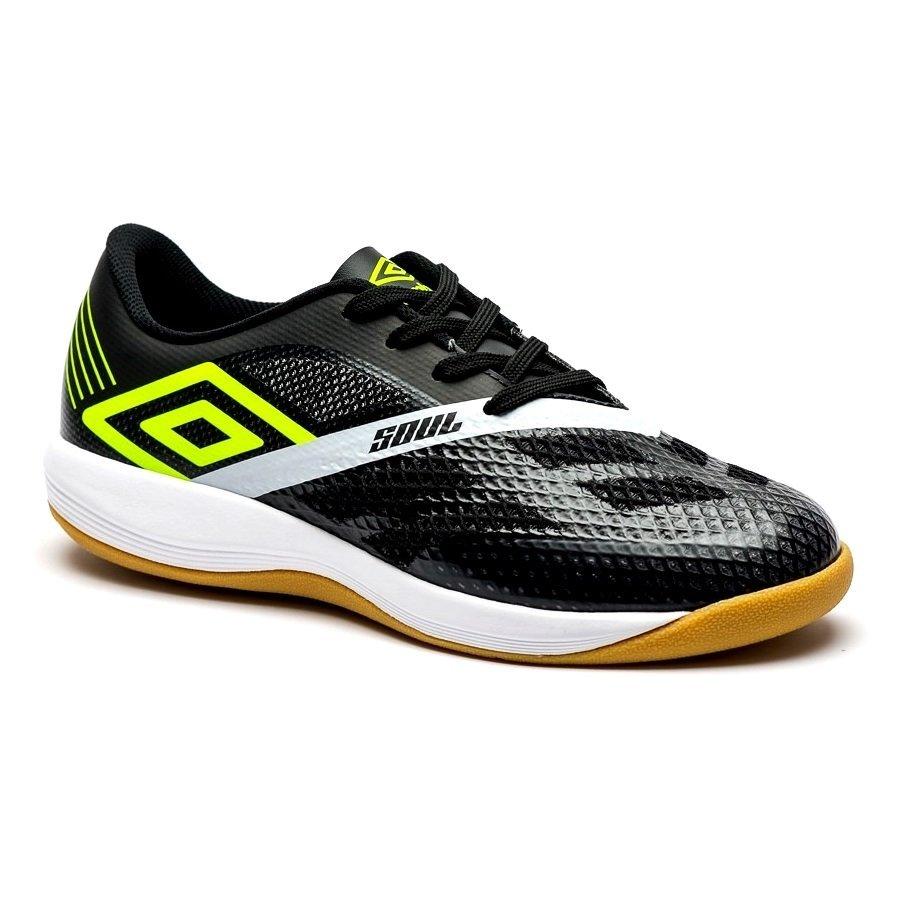 6a92bda6ece61 Tênis Indoor Umbro Soul Pró 0F72110-162 - Preto Limão Branco - Botas ...