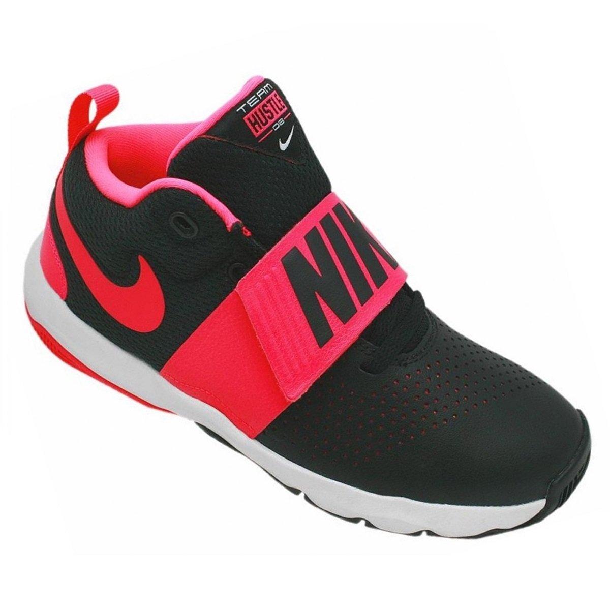 8f96a22ae79 Tênis Infantil Nike Team Hustle D 8 881941-002 - Preto Pink - Botas ...