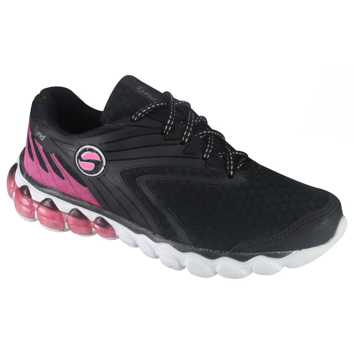 23b57a9c1 Tênis Lynd Feminino 396 - Preto/Pink - Botas Online Femininas ...