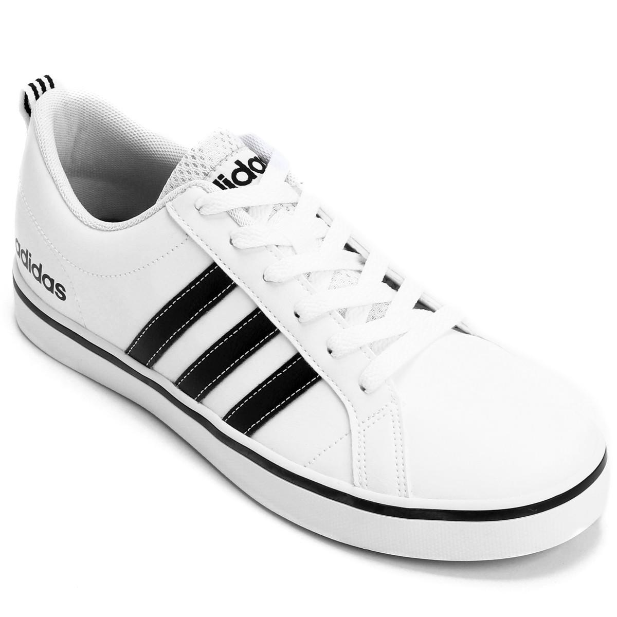 6f99bc7dfe6 Tênis Masculino Adidas Pace Vs AW4594 - Branco Preto - Botas Online ...