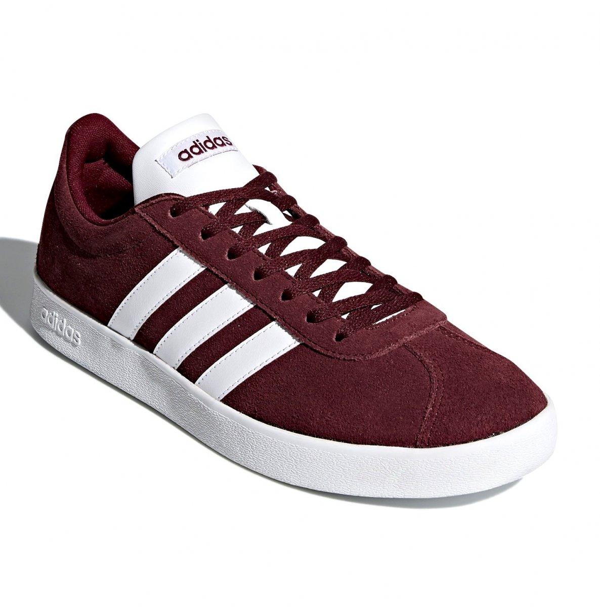 48e24e224a2 Tênis Masculino Adidas VL Court 2.0 DA9855 - Burgundy - Botas Online ...