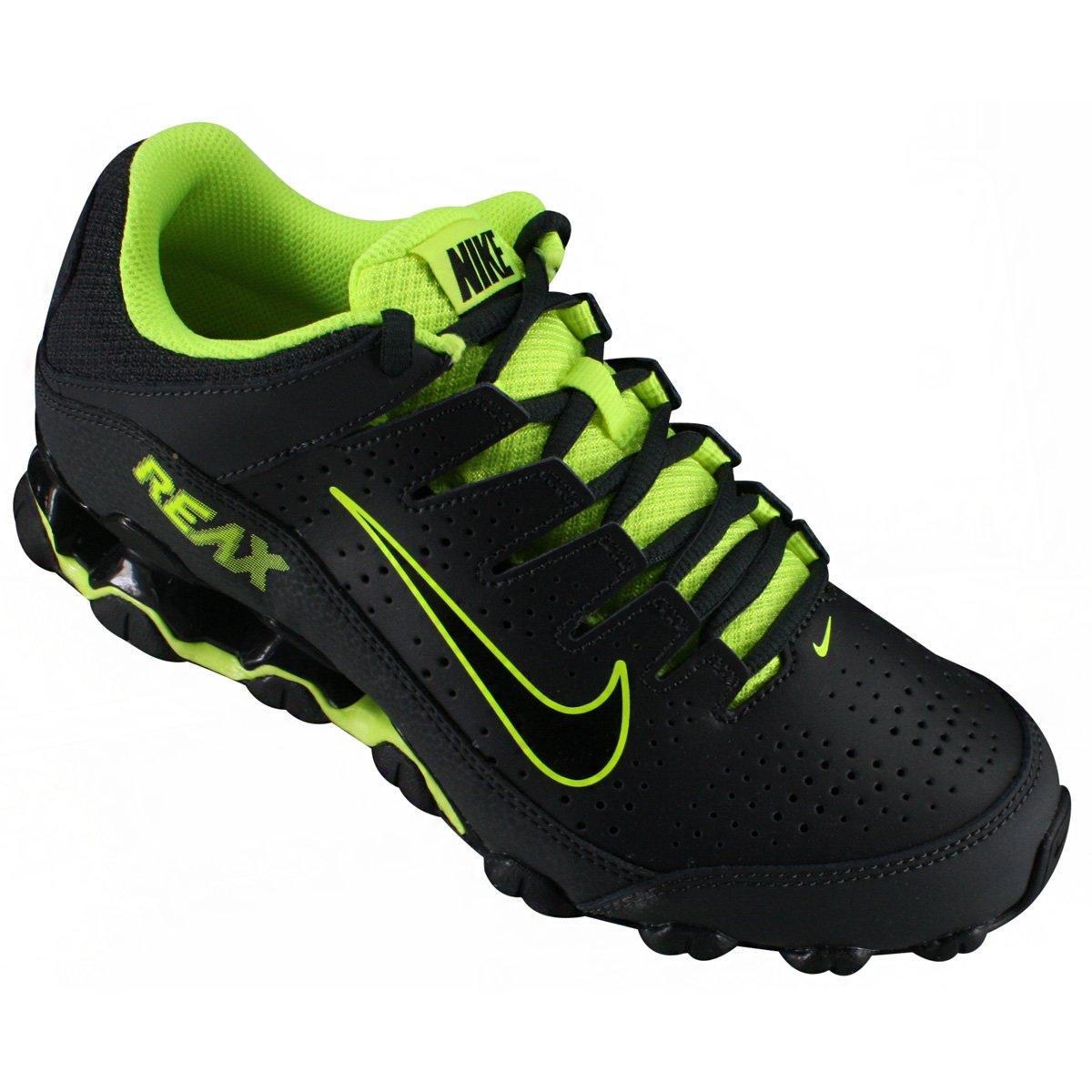 ac512b3c602 Tênis Masculino Nike Reax 8 616272-036 - Preto Verde Limão - Botas ...