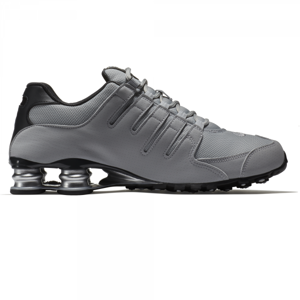4758cf5d3c9 Tênis Masculino Nike Shox NZ 378341-008 - Cinza Preto Dourado ...