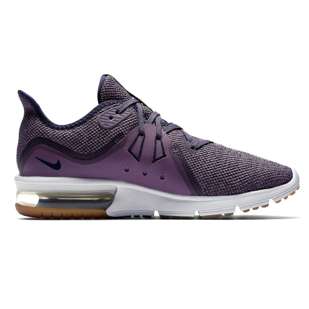 b0a5c60067104 Tênis Nike Air Max Sequent 3 Feminino 908993-501 - Violeta Branco ...