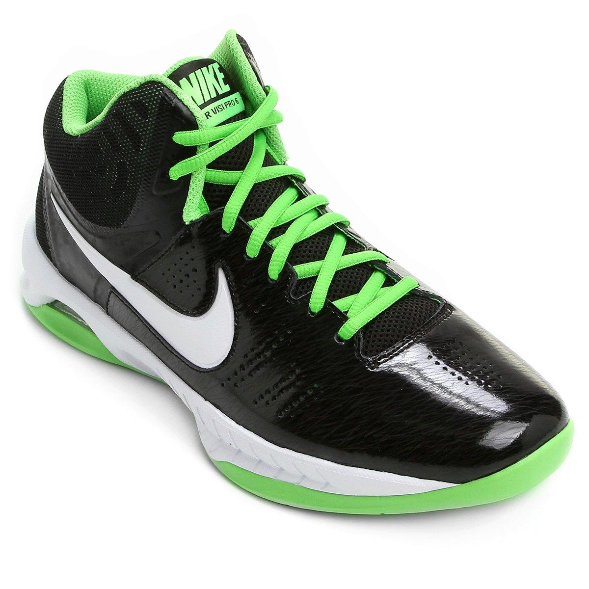 542fd579129 Tênis Nike Air Visi Pro VI 749167-011 - Preto Verde - Botas Online ...