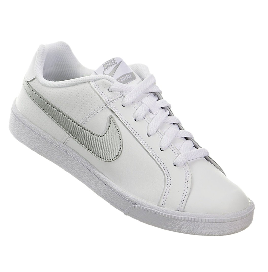 b0f1abd98b2 Tênis Nike Court Royale Feminino 749867-100 - Branco Prata - Botas ...