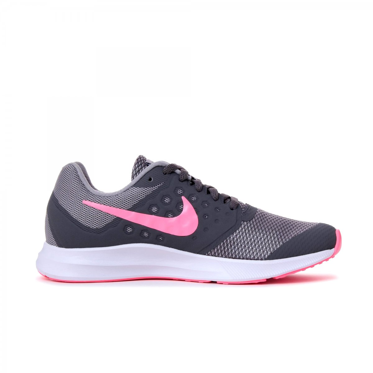 bdd2c4419 Tênis Nike Downshifter 7 (GS) Infantil 869972-003 - Cinza Rosa ...