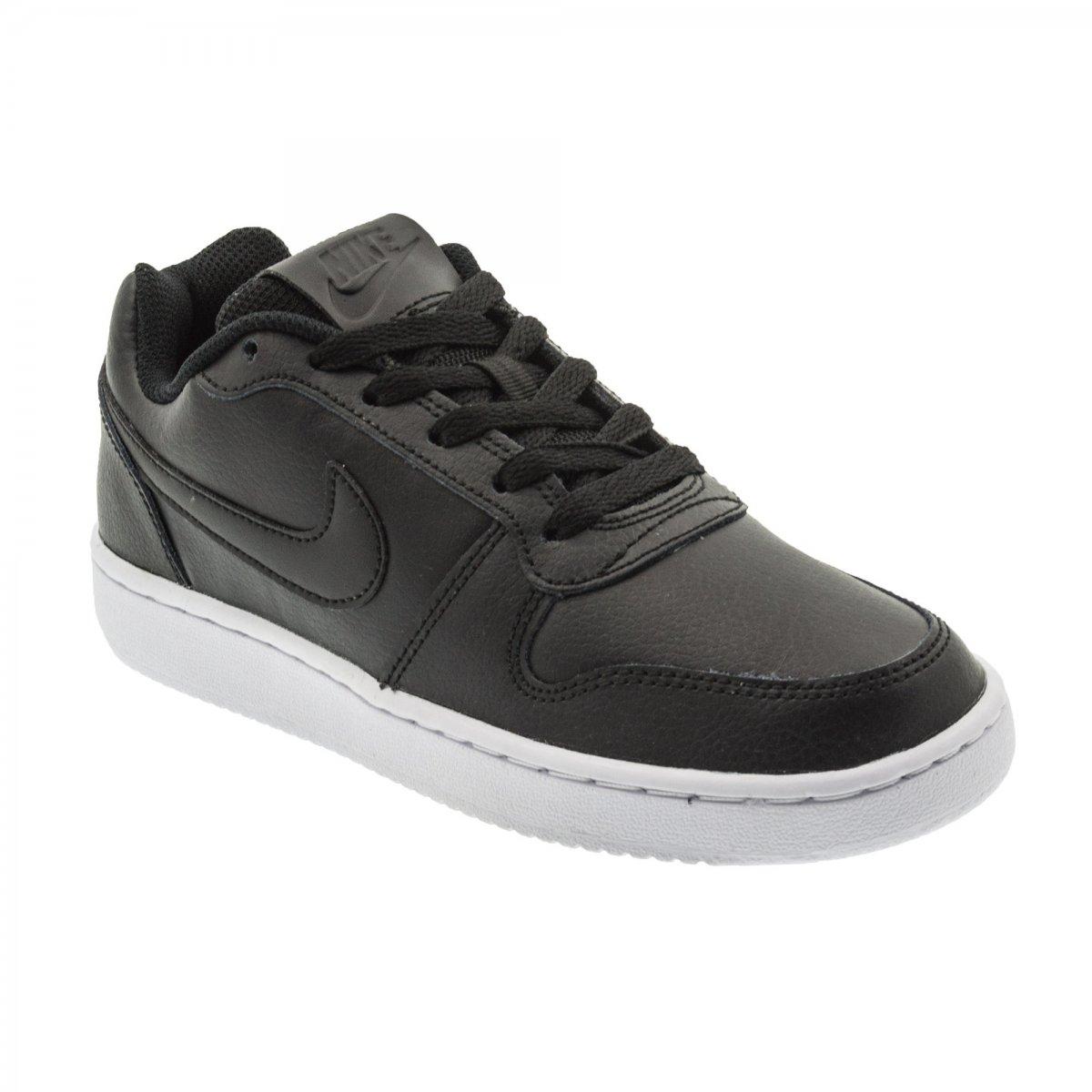 e086b0aae7e Tênis Nike Ebernon Low Prem Feminino AQ1779-001 - Preto Branco ...