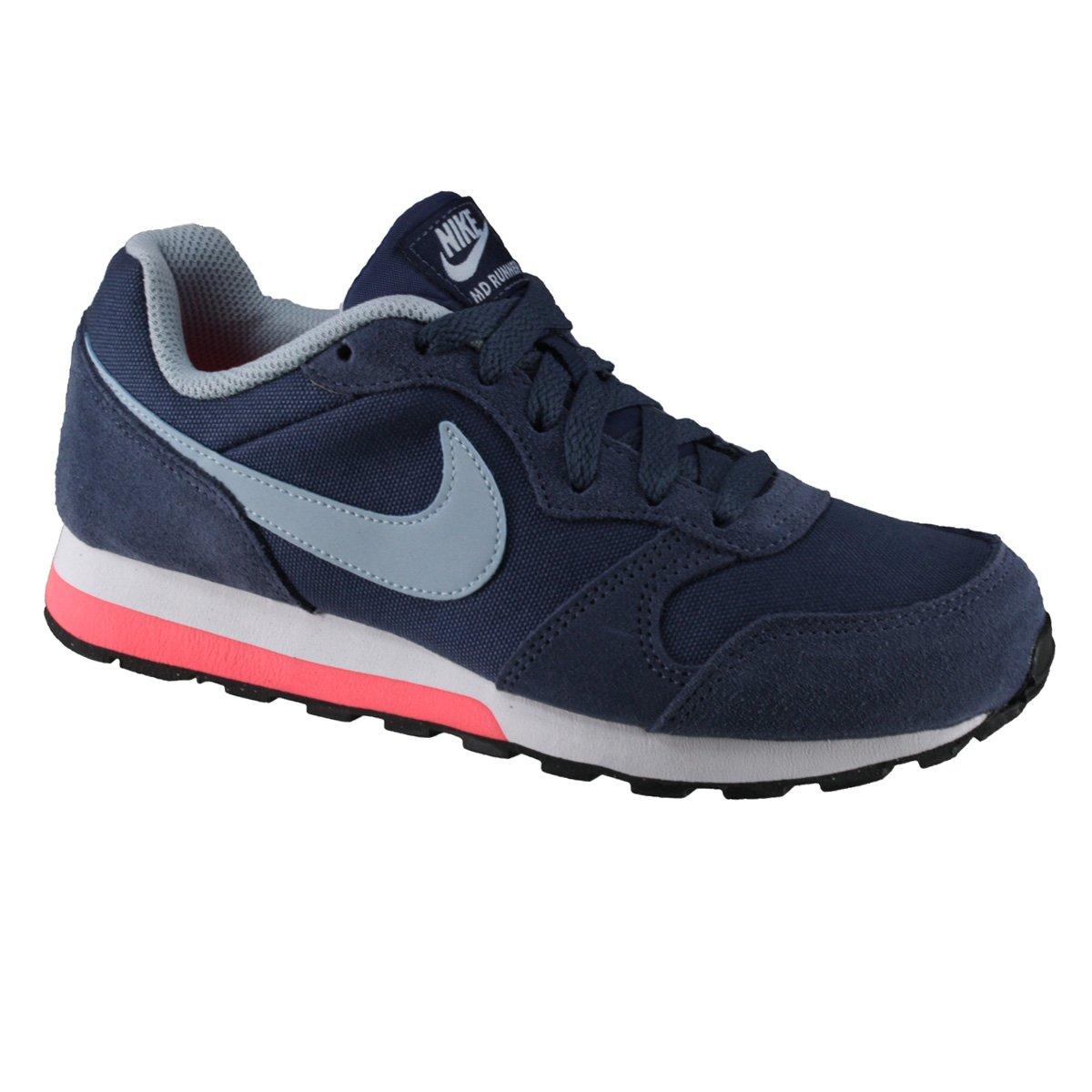 Tênis Nike MD Runner 2 (GS) Infantil 807319-405 - Azul Branco Coral ... b06ca5689ffb7