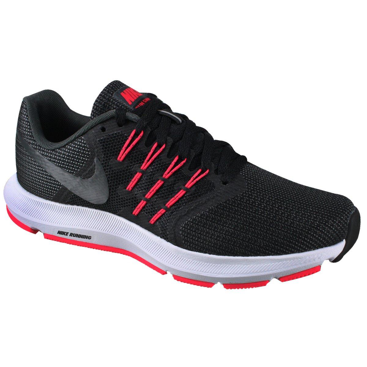 3868b03a262e1 Tênis Nike Run Swift Feminino 909006-006 - Preto Cinza Vermelho ...