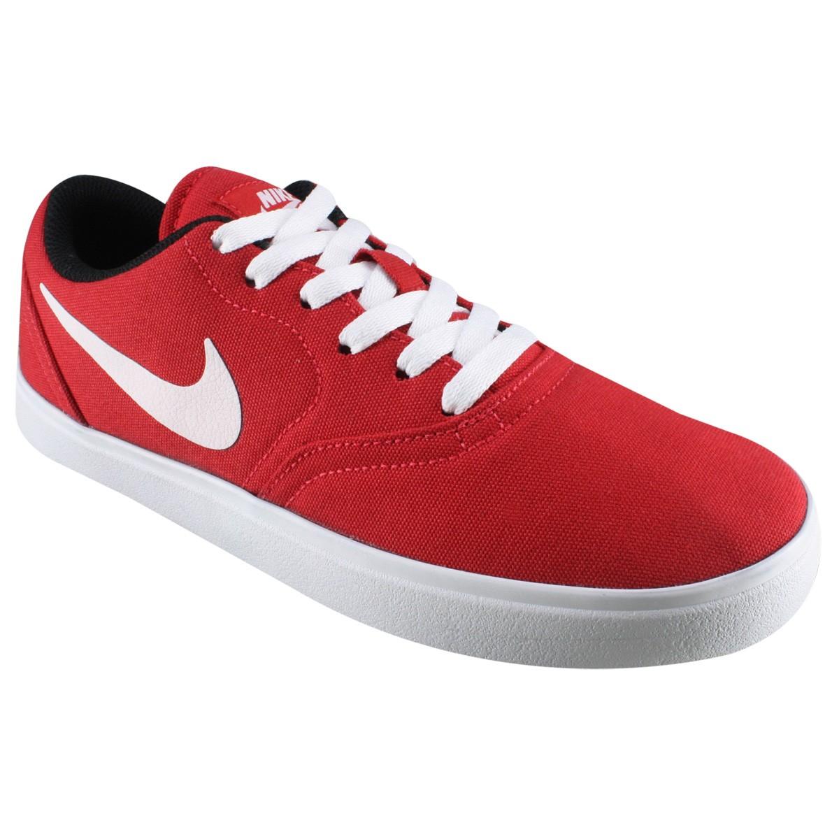 630e67a85df9a Tênis Nike SB Check CNVS 705268-610 - Vermelho Branco - Botas Online ...
