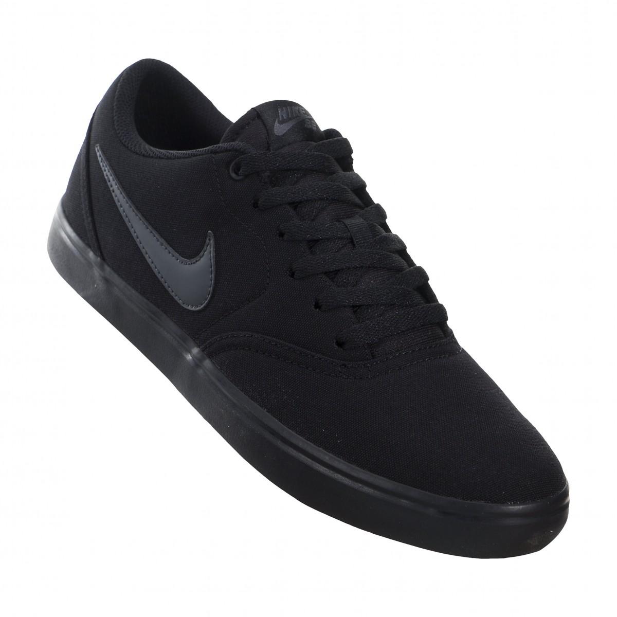 Tênis Nike SB Check Solar CNVS 843896-002 - Preto Preto - Botas ... 507f2d9bd85d0