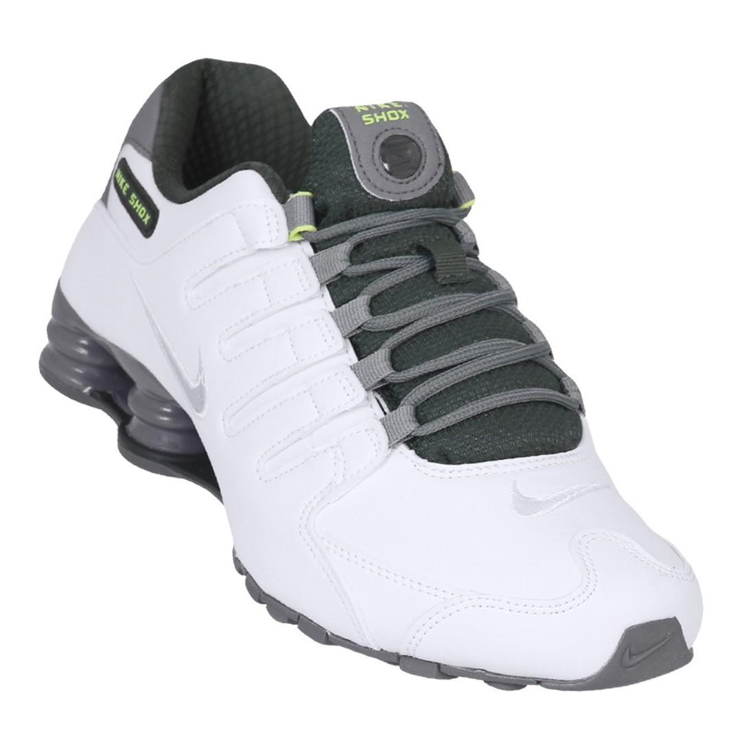 fc736ee9e8e Tênis Nike Shox NZ SE Masculino 833579-101 - Branco Verde Cinza ...
